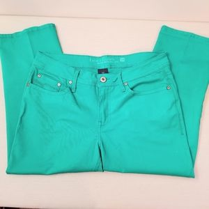 Faded Glory Green Cropped Pants